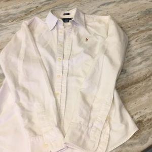 Women Polo Ralph Lauren white button down Slim fit